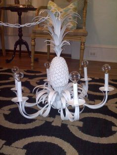 Pineapple chandelier- just bought this at Goodwill last week