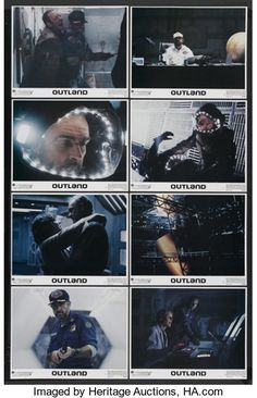 """Movie Posters:Science Fiction, Outland (Warner Brothers, 1981). Lobby Card Set of 8 (11"""" X 14"""").Science Fiction. Starring Sean Connery, Peter Boyle, Franc...(Total: 8)"""