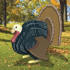 Wild Turkey DIY Woodcraft Pattern - This realistic looking turkey will fool your friends and neighbors out if your yard, but you may just want to take it inside in November. x x Pattern by Sherwood Creations Thanksgiving Wood Crafts, Thanksgiving Decorations Outdoor, Diy Wooden Projects, Wooden Crafts, Wood Animal, Animal Decor, Wood Craft Patterns, Fish Crafts, Craft Show Ideas