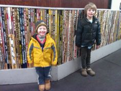 Hockey stick wall. Would love to do this in my boys' bedrooms some day!