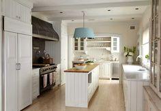 Swedish white kitchen/beadboard/Katrin Cargill
