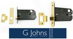 Our Horizontal Mortice Latch - Deep Case For Use With Door Knobs - PVD Brass