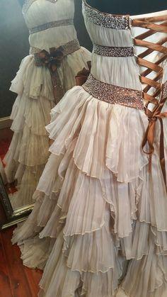 Wedding Dress Fantasy - Rustic Steampunk Wedding Dress designed by Tova Marc of WeddingDressFantasy.com
