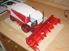 Znalezione obrazy dla zapytania kombajn czerwony tort