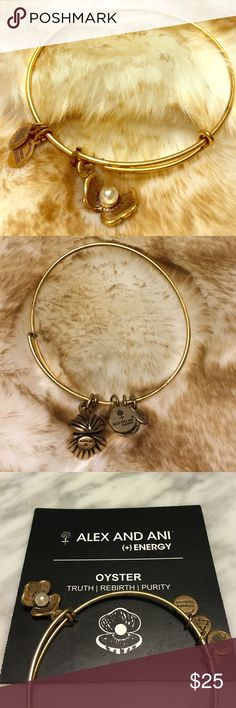 ALEX & ANI - Oyster Charm Bangle Truth   Rebirth   Purity Alex & Ani Jewelry Bracelets