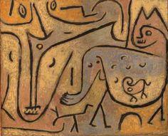 Paul Klee 'Tiere begegnen sich' (Animals Meet) 1938 Oil on canvas 50 x 42 cm