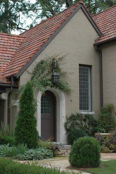 Best Exterior Paint Colors For House Stucco Tile Roof Ideas Stucco House Colors, Exterior Paint Colors For House, Paint Colors For Home, Exterior Colors, Paint Colours, Exterior Tiles, Stone Exterior, Exterior Trim, Cottage Exterior