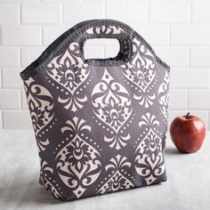 KSP Bella 'Damask' Insulated Lunch Bag (Dark Grey) available for sale at the best price at Kitchen Stuff Plus your Coolers & Lunch Bags store. Too Cool For School, School Stuff, Cute Lunch Boxes, Boite A Lunch, Bags For Teens, Insulated Lunch Bags, School Lunch, Damask, Dark Grey