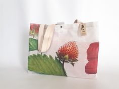 New big tote at the Online store, handmade with recycled publicity banners