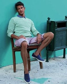 Casual summer style.  #men #fashion