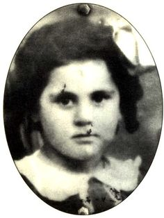 Portrait taken in Paris, France in 1942 of Sara Romano looking solemn at the camera. Sara deported to Auschwitz on Nov. 1942 at age Germany Poland, Elie Wiesel, Never Again, 7 Year Olds, World War Two, Historical Photos