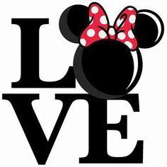 Love Mouse Girl Title SVG scrapbook cut file cute clipart files for silhouette cricut pazzles free svgs free svg cuts cute cut files Más