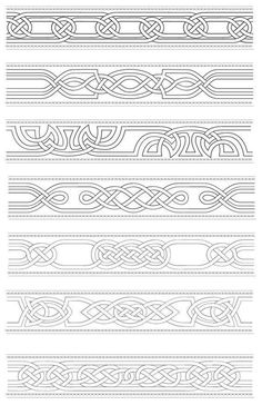 Leather Tooling Patterns, Leather Pattern, Norse Tattoo, Viking Tattoos, Celtic Symbols, Celtic Art, Celtic Knots, Wood Carving Patterns, Carving Designs