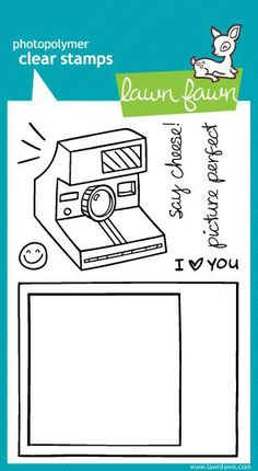 Use the versatile Say Cheese Clear Acrylic Stamp Set by Lawn Fawn for cards, tags, photo frames, layout elements and more. Scrapbook Supplies, Scrapbooking Layouts, Acrylic Set, Clear Acrylic, Lawn Fawn Stamps, Planner Organization, Cool Nail Designs, Tampons, Copics