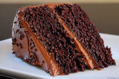 Moist Decadent Dark Chocolate Cake w/ Rich Dark Chocolate Buttercream