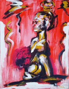 "Ramune Art ""In the Rhythm of Jazz"".Canvas 70x90, acrylic 🎨💛👠🎷🌼 #nüdes #todayart #interiør #interiordesign #homedeco #figurativeart #colors #jazzy #colorfullife #ramune_art #alexanderschwarzart  #ichliebees #instaartist #kunstliebe #abstract #nightglowing #painting #acrylic #figurativepainting #nude #modern #nights #women #contemporaryart #longhair #nightglow #modernart #abstractart #sexygirl #hot"