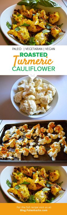 Roasted Turmeric Cauliflower Recipe by Courtney Hamilton