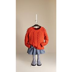 Burberry Pompom Cable Knit Sweater