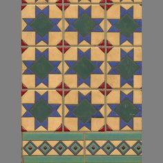 Spanish Tile 4 temporary decorative vinyl applique flooring | Custom Temporary Vinyl Adhesive Floor Covering