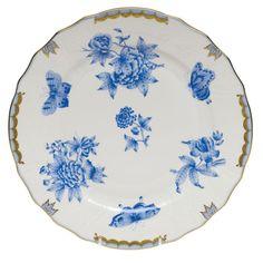 Fortuna Blue China by Herend Herend China, Blue Dinner Plates, Swarovski, Blue Dinnerware, China Plates, Blue China, China Patterns, Handmade Furniture, Hand Painting Art