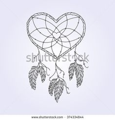 50 Best Heart Shaped Dreamcatcher Tattoo Images In 2018 Dream