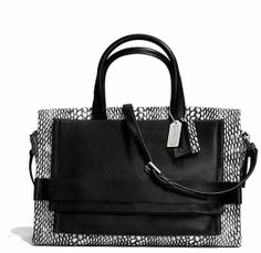 BLEECKER PINNACLE CARRYALL IN PAINTED SNAKE EMBOSSED LEATHER