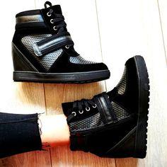 Czarne trampki Black sneakers 23,90 PLN #sneakers