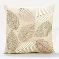 Neutral Tones Scattered Leaves Toss Pillows  SKU #451151  $29.99
