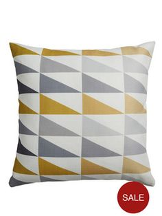 Triangles Cushion | very.co.uk