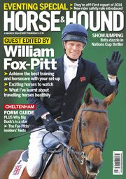6 March issue. Find out what's inside at http://www.horseandhound.co.uk/whats-in-horse-hound-magazine/