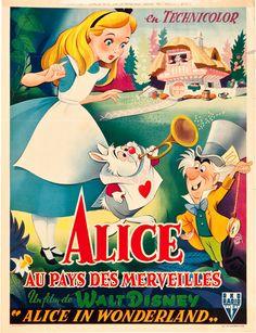 Rear Window Vintage Movie Posters ,Vancouver BC, Canada - 5 versions of... Alice in Wonderland