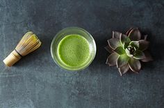 MAJOR HEALTH TREND ALERT! Matcha is the hottest tea in town these days. Rather than being steeped like other teas, Matcha green tea leaves are dried and ground up into a fine powder that can be blended into drinks, sweets, and pretty much anything else you want to infuse with a creamy, subtly sweet earthy flavor and calming energy (coffee jitters are so last year.