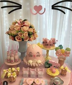 Baby shower cake chocolate birthday parties Ideas for 2019 Baby Girl First Birthday, Cat Birthday, 50th Birthday Party, Birthday Cake Girls, Kitten Party, Cat Party, Girl Baby Shower Decorations, Birthday Decorations, Fete Emma