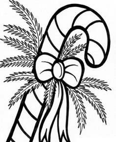 Christmas Candy Canes Coloring Page | Christmas | Pinterest ...