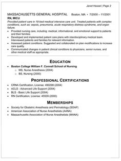 Sample Resume Nurse Resume  Nurse Resume Example  Resumes  Pinterest  Resume Examples