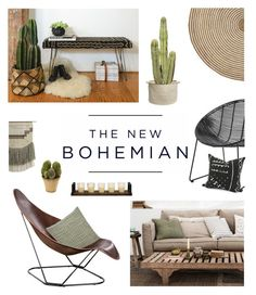 """The New Bohemian"" by fyenksfiona ❤ liked on Polyvore featuring interior, interiors, interior design, home, home decor, interior decorating, American Eagle Outfitters, H&M, Bloomingville and CB2"
