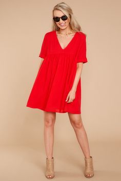 27329f12ae7e Sunday s Best. Red Dress Outfit CasualChic ...