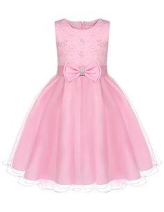 Hotouch Flower Girls Princess TUTU Dress Beading Wedding Pageant Dresses 4T-8T