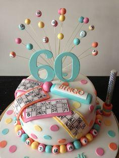 Bingo Cake Ideas And Designs picture 10376 Pretty Cakes, Cute Cakes, Beautiful Cakes, Amazing Cakes, Bingo Cake, Bingo Party, Adult Birthday Cakes, 60th Birthday Party, 60th Birthday Cake For Mom