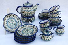 tea service for six person - polish pottery on www.tujestmojemiejsce.pl