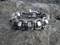 Hex nut Cobra Custom Paracord Survival Bracelet by Liquorbox, $25.50