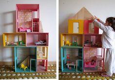 casa de muñecas modular en maleta via happyprojectsdesign