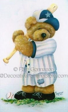 Baseball Bear Pattern - Pam Gonnason - PDF DOWNLOAD