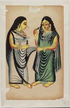 Image: [Kalighat paintings - separate sheets]
