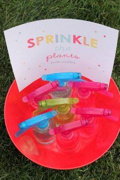 Sprinkle the Plants