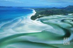 Australia Whitehaven Beach, Whitsunday Island Photographic Print at Art.com