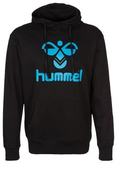 Hummel CLASSIC BEE - Kapuzenpullover - black/hawaian blue - Zalando.de #HU342G002-Q11 #Hummel #null #schwarz #black #schwarz #blau #blue #logo #bequem #lässig - Handball spielen - Handball spielen