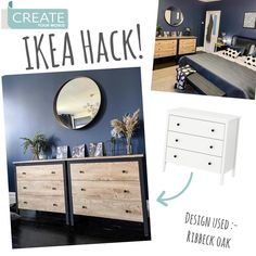 """Create Your World Ltd on Instagram: """"@lookingafternumber3 have done a fantastic #ikeahack on their #koppang drawers, using #dcfix Ribbeck Oak what do you think? 😍  . . . .…"""" Dc Fix, Ikea Furniture Hacks, Ikea Hack, Create Yourself, Drawers, Cabinet, Storage, Diy, Instagram"""