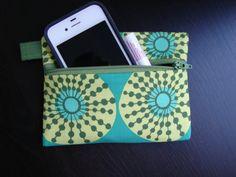 Keychain Wallet in Sun Spots by stitch248 on Etsy, $12.00