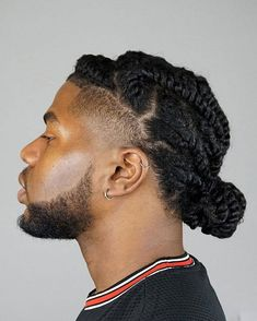 Mens Twists Hairstyles, Dread Hairstyles For Men, Black Men Hairstyles, Dope Hairstyles, African Hairstyles, Hair Twist Styles, Hair And Beard Styles, Big Natural Hair, Natural Hair Styles
